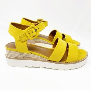 Franco Sarto Colton Platform Sandals NEW Yellow 8